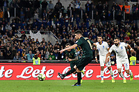 Jorginho of Italy scores on penalty the goal 0f 1-0 for his side <br /> Roma 12-10-2019 Stadio Olimpico <br /> European Qualifiers Qualifying round Group J <br /> Italy - Greece <br /> Photo Andrea Staccioli/Insidefoto