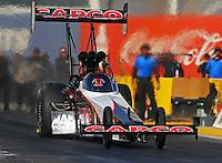 Feb 3, 2016; Chandler, AZ, USA; NHRA top fuel driver Steve Torrence during pre season testing at Wild Horse Pass Motorsports Park. Mandatory Credit: Mark J. Rebilas-USA TODAY Sports