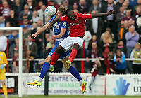Mark Haines of Chelmsford City and Aaron McLean of Ebbsfleet United during Ebbsfleet United vs Chelmsford City, Vanarama National League South Play-Off Final Football at The PHB Stadium on 13th May 2017