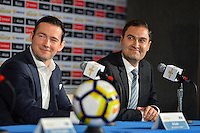 Santa Clara, CA - Tuesday, March 07, 2017: Al Guido, Dave Kaval during the unveiling of the CONCACAF 2017 Gold Cup Groups & Schedule at Levi's Stadium.