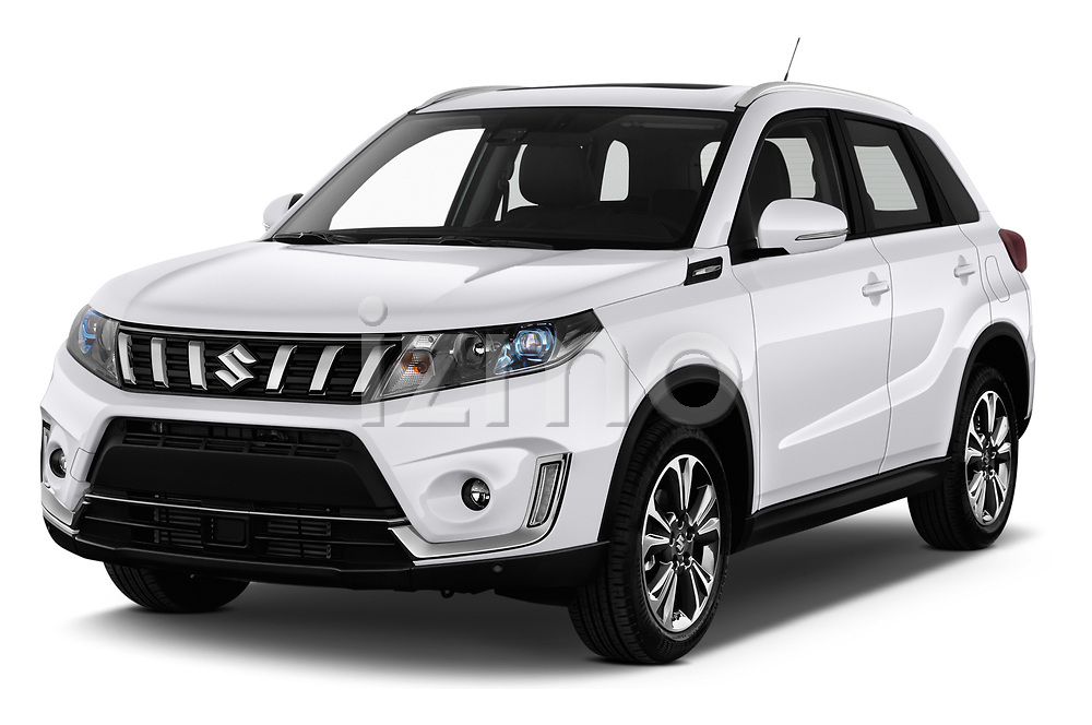 2019 Suzuki Vitara Grand Luxe Xtra 5 Door SUV angular front stock photos of front three quarter view
