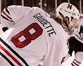 Adam Gaudette (NU - 8) - The Northeastern University Huskies and University of New Hampshire Wildcats tied 2-2 on Saturday, January 14, 2017, at Fenway Park in Boston, Massachusetts.