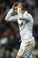 14.04.2012 SPAIN -  La Liga matchday 34th  match played between Real Madrid CF vs Real Sporting de Gijon (3-1) at Santiago Bernabeu stadium. The picture show Cristiano Ronaldo (Portuguese forward of Real Madrid)