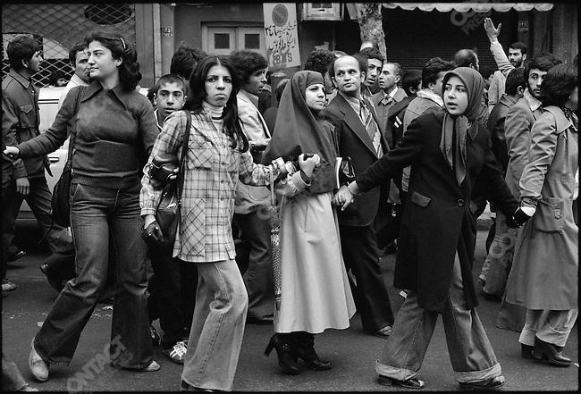 Anti-shah demonstrators. Tehran, December 27, 1978