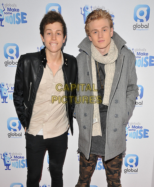 James McVey &amp; Tristan Evans of The Vamps attend the Global Radio's Make Some Noise Night Gala, Supernova, Embankment Gardens, London, England, UK, on Tuesday 24 November 2015. <br /> CAP/CAN<br /> &copy;CAN/Capital Pictures
