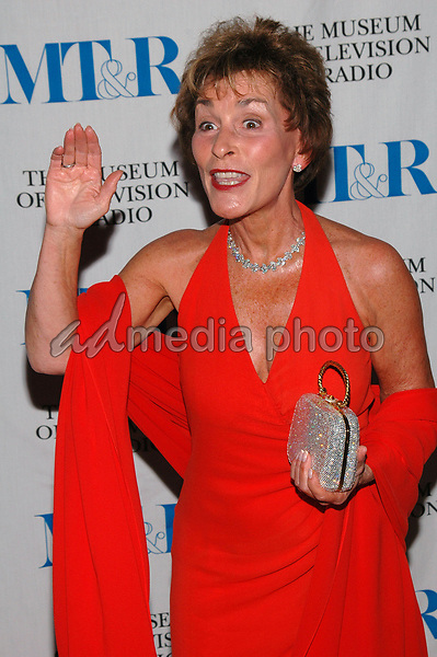 26 May 2005 - New York, New York - Judge Judy Sheindlin arrives at The Museum of Television and Radio's Annual Gala where Merv Griffin is being honored for his award winning career in radio and television.<br />