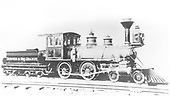 An engineer's-side builder's photo of D&amp;RG American #108 at Baldwin Locomotive Works.<br /> D&amp;RG  Philadelphia, PA  Taken by , Baldwin Locomotive Works - 1881