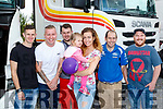 Rollin Along<br /> ----------------<br /> Supporting the Truck Run in aid of Cystic Fibrosis starting at the Rose hotel, Tralee last Saturday were L-R Sean Morrissey, Bobby Lynch, James Smullin, Mia Morrissey, Liana Jusaite, Jason Brick and Rory O'Connor.