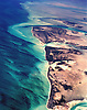 Aerial view of Bimini Islands in the Bahamas