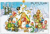 Interlitho, CHRISTMAS SANTA, SNOWMAN, nostalgic, paintings(KL573-5/rgb,#X#) Weihnachten, nostalgisch, Navidad, nostálgico, illustrations, pinturas