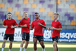 15.08.18 Rangers in Maribor: Ryan Kent, Scott Arfield, Alfredo Morelos and Ross McCrorie