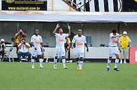 SANTOS, SP, 05 MARÇO DE 2012 - CAMP. PAULISTA - SANTOS X CORINTHIANS - IBISON do Santos comemora gol durante partida entre Santos x Corinthians na Vila Belmiro.. (FOTO: ADRIANO LIMA - BRAZIL PHOTO PRESS)