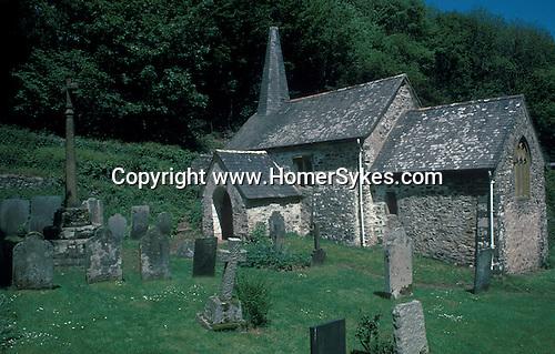 St Beno church Culbone, Nr Porlock Weir, Somerset England. Celtic Britain published by Orion