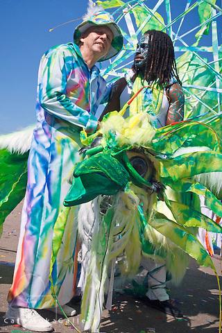 Trinidad Carnival - Brian Macfarlane's band Joy, Brian with band members