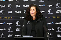 23.05.2019 Debbie Fuller, assistant coach of the Silver Ferns during the Silver Ferns squad announcement ahead of the Netball World Cup 2019 at the ILT Stadium in Invercargill. Mandatory Photo Credit Copyright photo: Dianne Manson/Michael Bradley Photography