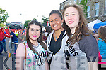 Pictured queuing for the Union J concert at Denny Street on Friday were, from left: Aoife O'Shea (Athy) and Joanna Maynard (Abbeyfeale), Melissa Holland (Brosna).