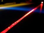 A macro shot of a laser