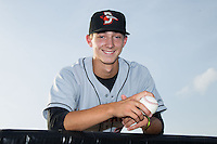 Hunter Harvey (35) of the Delmarva Shorebirds poses for a photo prior to the game against the Kannapolis Intimidators at CMC-NorthEast Stadium on July 2, 2014 in Kannapolis, North Carolina.  The Intimidators defeated the Shorebirds 6-4. (Brian Westerholt/Four Seam Images)