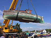 BNPS.co.uk (01202 558833)<br /> Pic: MattCain/BNPS<br /> <br /> Getting ready for her rebuild. <br /> <br /> A lifeboat which was present at Dunkirk is set to sail there on the 80th anniversary of the mass evacuation after being painstakingly restored.<br /> <br /> The Lady of Mann was lifeboat number eight on board the passenger ship RMS Lady of Mann, which brought 4,262 men back to England in May 1940.<br /> <br /> It was also on the Isle of Man Steam Packet Company vessel when it carried six landing craft, 55 officers and 435 troops to Juno Beach on D-Day in June 1944.<br /> <br /> After the ship was broken up in 1971, the 27ft lifeboat was sold off and converted into a fishing boat which operated out of Maldon, Essex. It had been languishing in a rotting, dilapidated state in an Essex boatyard when IT manager Matt Cain paid £3,000 for it in 2009 after spotting it for sale online.<br /> <br /> The boat sank at its mooring in Windsor, Berks, during the floods of February 2014. Since then, Mr Cain, whose grandfather was evacuated at Dunkirk, has spent over £30,000 returning it to its former glory.