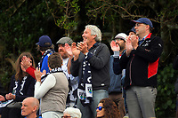 Auckland City FC fans during the Oceania Football Championship final (second leg) football match between Team Wellington and Auckland City FC at David Farrington Park in Wellington, New Zealand on Sunday, 7 May 2017. Photo: Dave Lintott / lintottphoto.co.nz