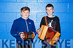 Ceol an Gheimhridh competitions at the IT Tralee South Campus on Saturday. Pictured were Oisin Gallagher and Shane Kelly from Lixnaw