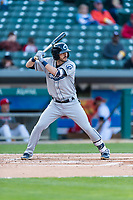 Columbus Clippers shortstop Eric Stamets (7) during an International League game against the Indianapolis Indians on April 29, 2019 at Victory Field in Indianapolis, Indiana. Indianapolis defeated Columbus 5-3. (Zachary Lucy/Four Seam Images)