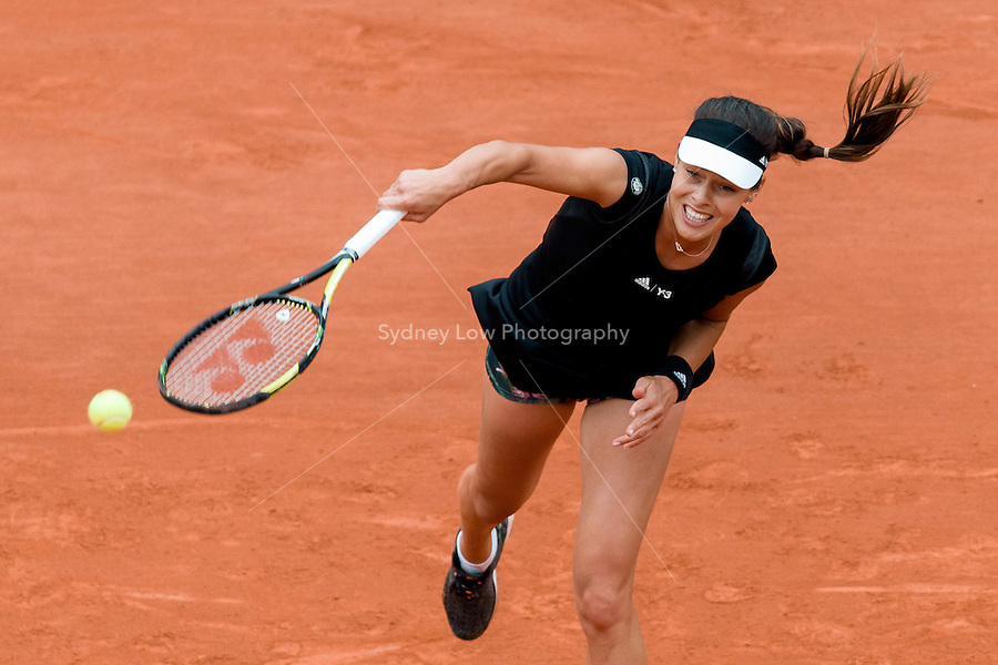 May 31, 2015: Ana IVANOVIC of Serbia in action in a 4th round match against Ekaterina MAKAROVA of the Russian Federation on day eight of the 2015 French Open tennis tournament at Roland Garros in Paris, France. Sydney Low/AsteriskImages