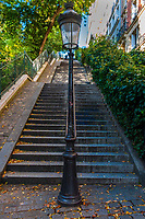 Stairs leading up to Sacre Coer in Paris