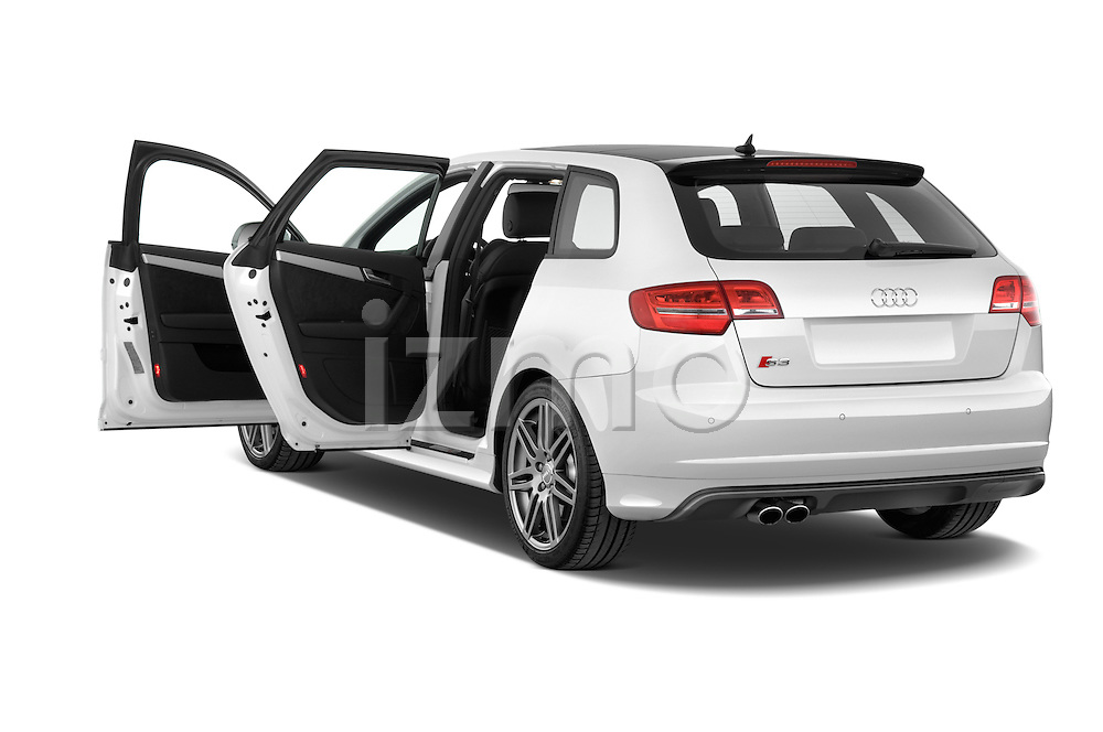 Rear three quarter door view of a 2009 - 2013 Audi S3 Sportback 5-Door Hatchback 4WD.