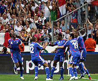 Paris/Parigi 6/9/2006 Stade de France Eliminatorie Euro 2008. France Italy 3-1 Francia Italia 3-1. Photo Andrea Staccioli INSIDE<br /> <br /> Sidney GOVOU celebrates after scoring with teammates Patrick VIEIRA, Thierry HENRY, Willy SAGNOL, Eric ABIDAL. Sidney GOVOU festeggia il primo gol con Patrick VIEIRA, Thierry HENRY, Willy SAGNOL, Eric ABIDAL