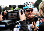 Romain Bardet (FRA) AG2R La Mondiale at the team presentation before Stage 1 of the Criterium du Dauphine 2019, running 142km from Aurillac to Jussac, France. 9th June 2019<br /> Picture: ASO/Alex Broadway | Cyclefile<br /> All photos usage must carry mandatory copyright credit (© Cyclefile | ASO/Alex Broadway)
