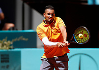 Nick Kyrgios of Australia  in his match against Jan-Lennard Struff of Germany during day three of the Mutua Madrid Open at La Caja Magica on May 05, 2019 in Madrid, Spain /NortePhoto.com