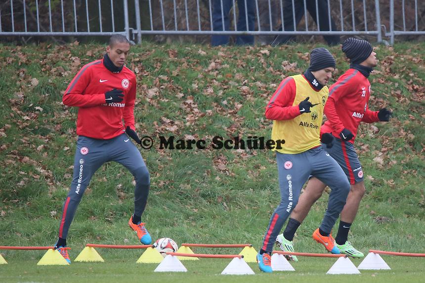 Bamba Anderson und Aleksandar Ignjovski (Eintracht) - Eintracht Frankfurt Training, Commerzbank Arena