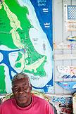 EXUMA, Bahamas. Tucker Rolle, owner of Compass Cay at the Compass Cay Marina.