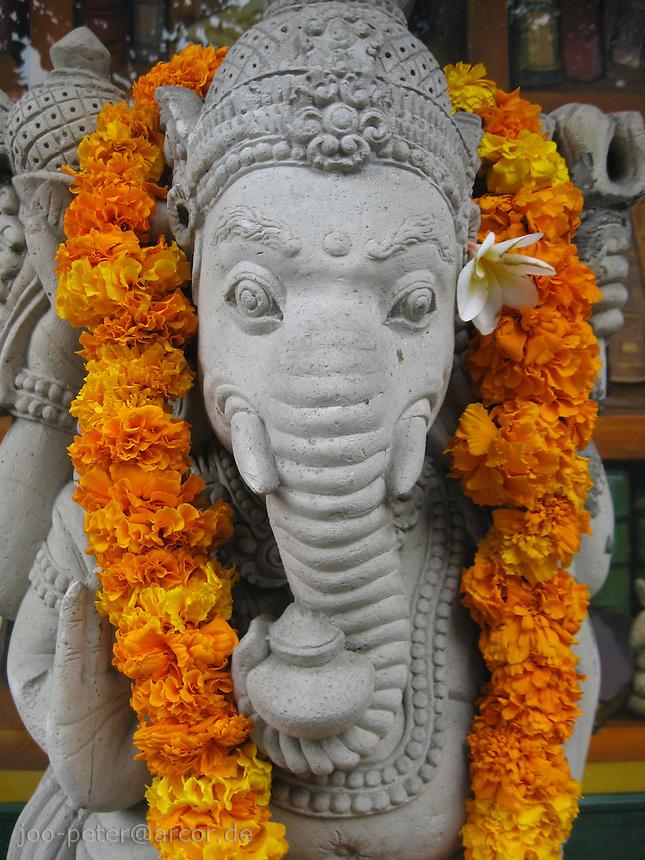 Ganesha stone sculpture, Bali, archipelago Indonesia