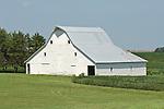 White barns at the Broady farm along US 136, southern Nebraska.