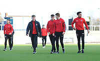 Fleetwood Town players inspect their surroundings<br /> <br /> Photographer Kevin Barnes/CameraSport<br /> <br /> The EFL Sky Bet League One - Bristol Rovers v Fleetwood Town - Saturday 22nd December 2018 - Memorial Stadium - Bristol<br /> <br /> World Copyright © 2018 CameraSport. All rights reserved. 43 Linden Ave. Countesthorpe. Leicester. England. LE8 5PG - Tel: +44 (0) 116 277 4147 - admin@camerasport.com - www.camerasport.com