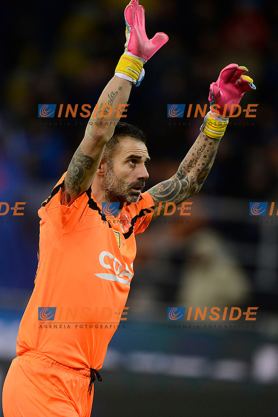 Stefano Sorrentino Chievo <br /> Milano 14-01-2017 Stadio Giuseppe Meazza - Football Calcio Serie A Inter - Chievo Verona. Foto Giuseppe Celeste / Insidefoto