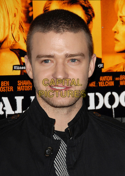 """JUSTIN TIMBERLAKE.Universal Pictures World Premiere of """"Alpha Dog"""" held at The Arclight Theatre in Hollywood, California, USA. .January 3rd, 2007.headshot portrait stubble facial hair .CAP/DVS.©Debbie VanStory/Capital Pictures"""