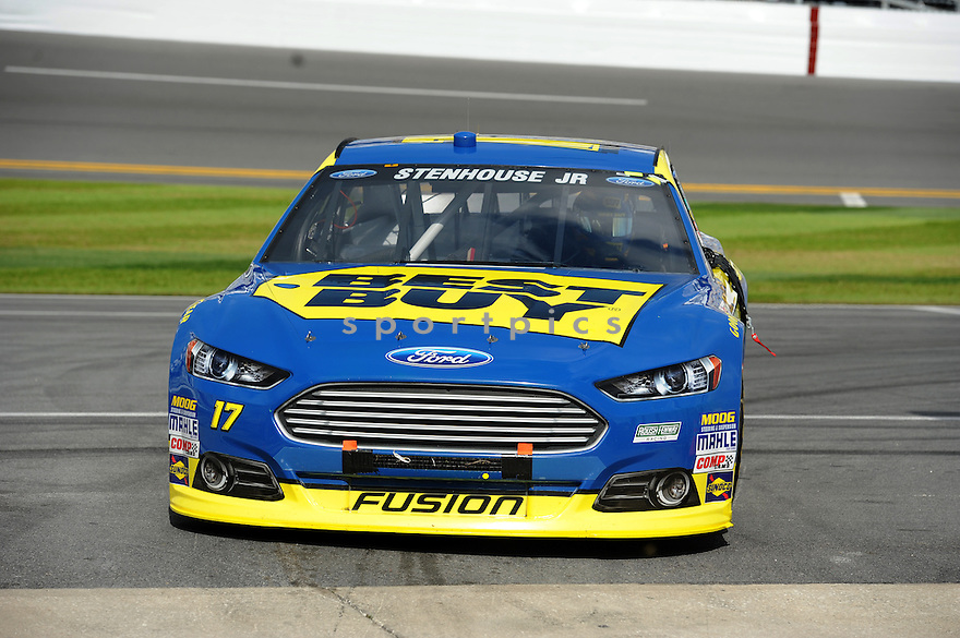 Sprint Cup Series driver Ricky Stenhouse Jr. (17) during Speed Week, leading up to the 2013 Daytona 500.