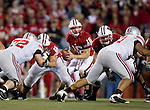 Wisconsin Badgers quarterback Scott Tolzien (16) drops back to pass during an NCAA college football game against the Ohio State Buckeyes on October 16, 2010 at Camp Randall Stadium in Madison, Wisconsin. The Badgers beat the Buckeyes 31-18. (Photo by David Stluka)