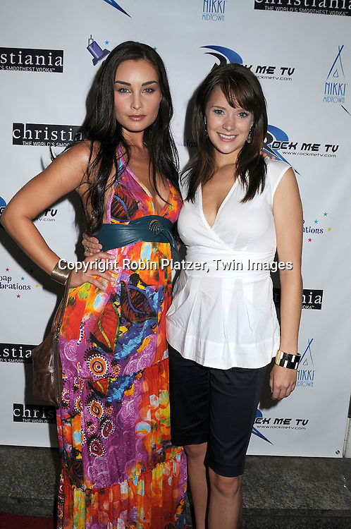 Ewa da Cruz and Marnie Schulenberg of As The World Turns.at The 19th Annual Marcia Tovsky Pre-Daytime Emmy Party on June 11, 2008 at Nikki Midtown in New York City. ..Robin Platzer, Twin Images