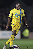 15.01.2013. Torquay, England. Torquay defender Brian Saah in action during the League Two game between Torquay United and Exeter City from Plainmoor.