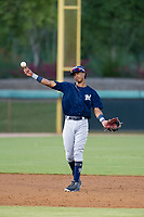 AZL Brewers shortstop Yeison Coca (7) makes a throw to first base against the AZL Dodgers on July 25, 2017 at Camelback Ranch in Glendale, Arizona. AZL Dodgers defeated the AZL Brewers 8-3. (Zachary Lucy/Four Seam Images)