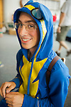 Garden City, New York. 15th June 2013. DAN BEIM, of Merrick, is wearing a Wonderbolt costume at the Eternal Con Pop Culture Expo, which was hosted by the Cradle of Aviation Museum of Long Island.
