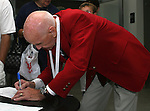 26 August 2007: Hall of Famer Clarkie Souza signs an autograph. The National Soccer Hall of Fame Induction Ceremony was held at the National Soccer Hall of Fame in Oneonta, New York.