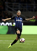 Calcio, Serie A: Inter Milano - AC Milan , Giuseppe Meazza stadium, .October 21, 2018.<br /> Inter's Marcelo Brozovic in action during the Italian Serie A football match between Inter and Milan at Giuseppe Meazza (San Siro) stadium, October 21, 2018.<br /> UPDATE IMAGES PRESS/Isabella Bonotto