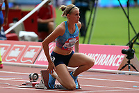 Sara Petersen of Denmark competes in the womenís 400 metres hurdles during the Muller Anniversary Games at The London Stadium on 9th July 2017