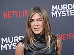 "Jennifer Aniston 128 arrives at the LA Premiere Of Netflix's ""Murder Mystery"" at Regency Village Theatre on June 10, 2019 in Westwood, California"