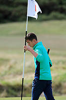 Tom McKibbin of Ireland during Day 3 / singles of the Boys' Home Internationals played at Royal Dornoch Golf Club, Dornoch, Sutherland, Scotland. 09/08/2018<br /> Picture: Golffile | Phil Inglis<br /> <br /> All photo usage must carry mandatory copyright credit (&copy; Golffile | Phil Inglis)